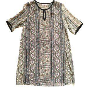 Caylpso St Barth Shift Dress Medium Silk Black M